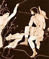 Odyssevs och Telemachos