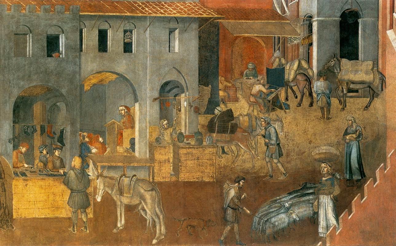 Ambrogio di Lorenzo Det goda styret Siena